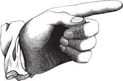 вектор руки Стоковое Изображение