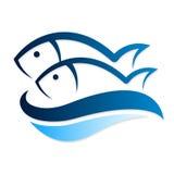 Вектор 2 рыб Стоковое Изображение