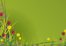 вектор сада зеленый Стоковое Изображение RF