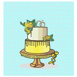 Вектор свадебного пирога 2 ярусов Стоковое фото RF