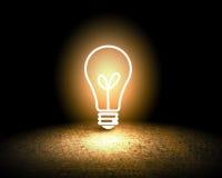 вектор света иллюстрации идеи принципиальной схемы шарика Стоковая Фотография