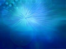 вектор света bokeh абстрактной предпосылки голубой Стоковая Фотография