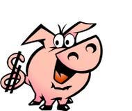 вектор свиньи иллюстрации доллара Стоковые Изображения