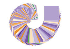 вектор свирли сквайра цвета коробки Стоковое Фото