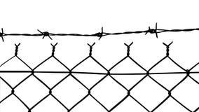 Вектор связанной проволокой загородки с колючими проволоками бесплатная иллюстрация