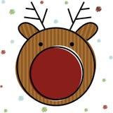 вектор северного оленя иллюстрации рождества Стоковые Фотографии RF