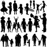 вектор семьи детей Стоковые Фото