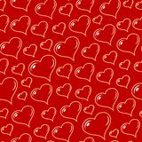 вектор сердец безшовный Стоковая Фотография