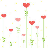 вектор сердец конструкции флористический иллюстрация штока