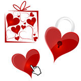 вектор сердец предпосылки Стоковая Фотография