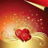 вектор сердца предпосылки иллюстрация штока