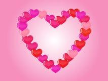 вектор сердца предпосылки Стоковое фото RF