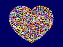 вектор сердца предпосылки Стоковое Изображение