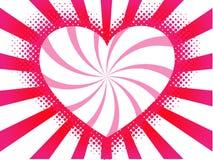вектор сердца предпосылки Стоковое Изображение RF