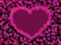 вектор сердца прозрачный Стоковое Изображение