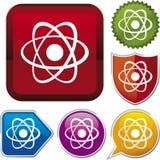 вектор серии иконы атома Стоковые Фото