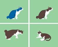1 вектор серии иллюстрации кота шаржа Стоковое фото RF