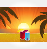 вектор серии коктеила пляжа Стоковая Фотография RF
