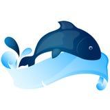 вектор 5 серий иллюстрации рыб шаржа Стоковые Изображения