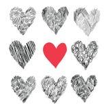 вектор сердец архива eps включенный Стоковые Изображения