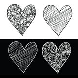 вектор сердец архива eps включенный Стоковое Изображение