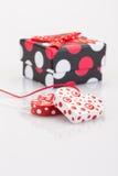 вектор сердец подарка карточки предпосылки декоративный Стоковые Фото