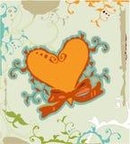 вектор сердца grunge Стоковое Фото