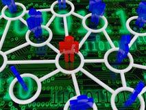 вектор сети иллюстрации конструкции принципиальной схемы Стоковые Изображения RF