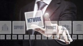 вектор сети иллюстрации конструкции принципиальной схемы Стоковые Фотографии RF