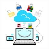вектор сети иллюстрации соединения облака Стоковое Изображение
