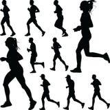 Вектор силуэта бегуна Стоковая Фотография RF