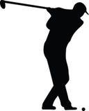 вектор силуэта игрока гольфа иллюстрация штока