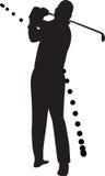 вектор силуэта игрока гольфа иллюстрация вектора
