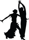 Вектор силуэта людей танцульки иллюстрация штока