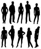 вектор силуэта людей Стоковое Фото