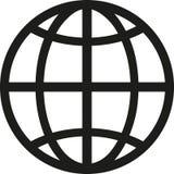 Вектор символа глобуса иллюстрация вектора