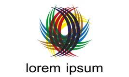 Вектор символа логотипа Абстрактн Сферы Логотипа Rounded Globle Кругов Логотипа Шаблона Современн Компании стоковая фотография