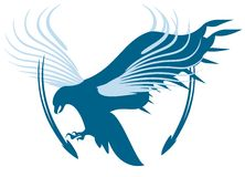 вектор символа орла стрелок Стоковое Фото