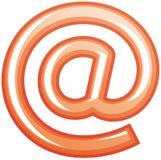 вектор символа почты e Стоковые Изображения