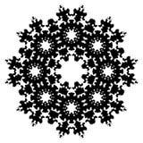 вектор символа снежинки глифа Стоковые Изображения