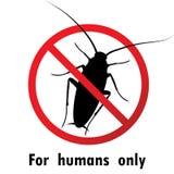 Вектор символов знака таракана тараканов и стопа конструирует Стоковые Изображения