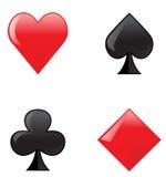 вектор символов карточки Стоковое Изображение