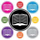 вектор символов книги Стоковые Изображения RF