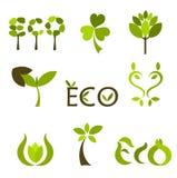 вектор символов природы логосов Стоковые Изображения
