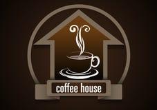 Вектор, символ кофейни Стоковые Фотографии RF