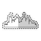 вектор силуэта города искусства Стоковое Изображение