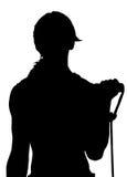 Вектор силуэта женщины фитнеса Стоковое Фото