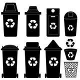 Вектор силуэта мусорной корзины иллюстрация штока