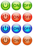 вектор силы иллюстрации формы eps 10 кнопок Стоковое Фото