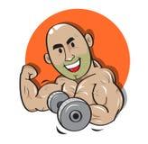 Вектор силы человека веса сильный Стоковые Изображения RF